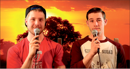 film — Deibert and Sjolinder say goodbye to the comedic videos that made them famous. Photo provided
