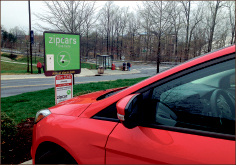 RIDE — Liberty is one of 350 colleges with Zipcars. Photo credit: Courtney Russo