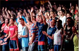 Worship — Students felt the Holy Spirit's presence. Photo credit: Leah Seavers