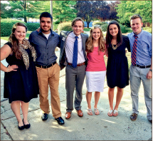 Council — New class officers prepare for the year.  Photo provided