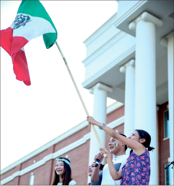 PRIDE — Students from around the world celebrate their international heritage. Photo credit: Courtney Russo