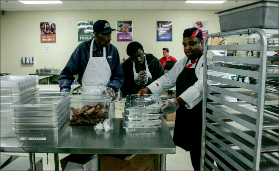 waste not — Sodexo donates extra food from Liberty dining locations to the Lynchburg Daily Bread soup kitchen. Photo credit: Alanna Mitchell