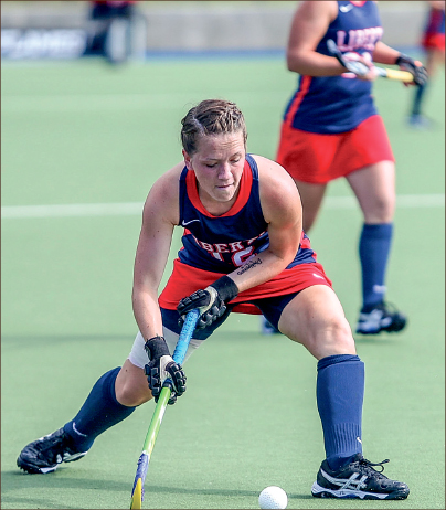 precision— Sophomore Bethany Barr scored her second goal of the season against Ohio.  Photo credit: Leah Seavers