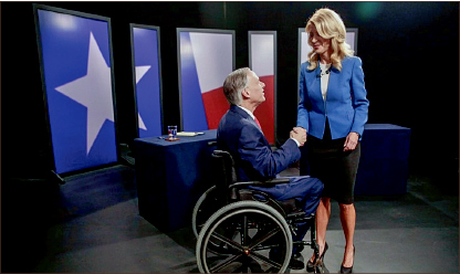 OFFENSIVE — Gubernatorial candidate Wendy Davis used her opponent's handicap as advertisement. Google Images