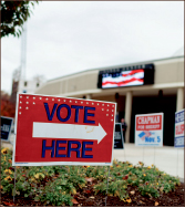 LUXURY — Students enjoy convenience of voting in Vines Center. Photo credit: Joel Coleman