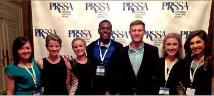 LEADERSHIP — PRSSA executive team represented Liberty's chapter in this year's national conference. Photo provided