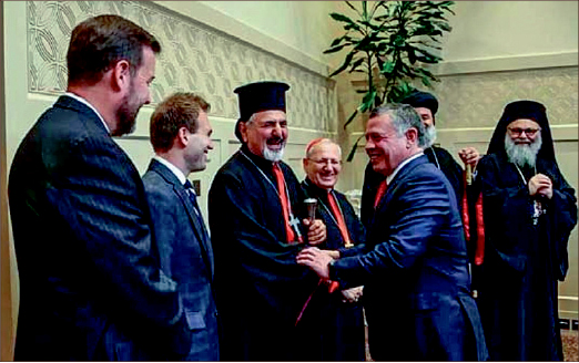 URGENT — Johnnie Moore and Chris Seiple met with King Abdullah II of Jordan and the Patriarchs from Jordan, Syria and Iraq. Photo provided