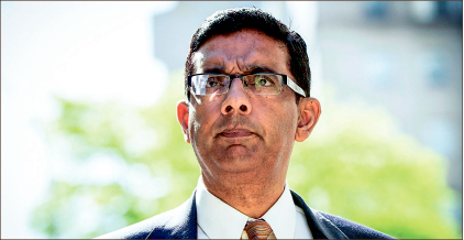 LAWSUIT — Dinesh D'Souza was convicted and sentenced for illegally donating to Senate campaign. Google Images