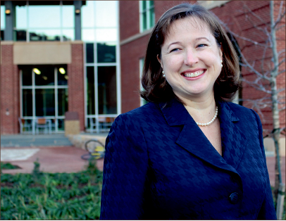 user-friendly — Angela Rice becomes new dean of the state-of-the-art Jerry Falwell Library.  Photo credit: Olivia Miorelli