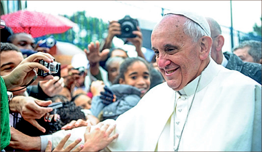 Controversy — Pope Francis rattled Catholic and Protestant theologies by contradicting established fundamental creation story. Google Images
