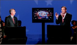 Decision — Virginia Senate candidates Ed Gillespie and Mark Warner debate. Google Images