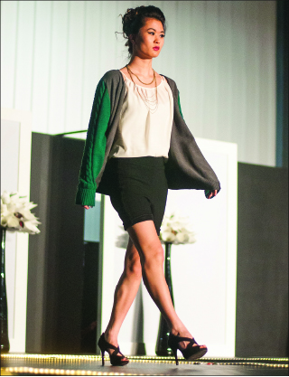 Strut — This year's fashion show will premiere April 11 in the Schilling Center. Photo credit: Dale Carty II