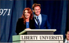 inspiring — Emmy-winner Roma Downey encourages students. Photo credit: Courtney Russo