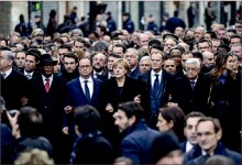 rally — Forty world leaders joined millions of Parisians in march against terrorism. Google Images