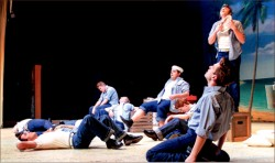 """PERFORMANCE — """"South Pacific"""" depicts the joys and sorrows of World War II through musical compositions. Photo credit: Amber Tiller"""