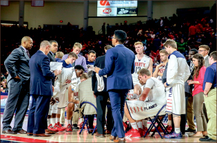 DEFEATED — The Flames followed their first Big South win with a big loss.  Photo credit: Courtney Russo