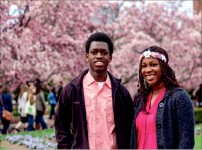 Recreation — Liberty students Ezra Carty and Fantasia Remonvil in Washington, D.C., at the Cherry Blossom Festival in 2014. Photo credit: Dale Carty II