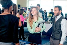 Job hunt — Several students have used the career fairs to find work after graduation. Photo credit: Lauren Adriance