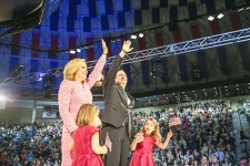 Ted Cruz, the first official 2016 presidential candidate, shares stage with his wife and children. Photo credit: Courtney Russo