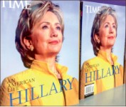 trapped — Hillary Clinton stuck in email controversy. Google Images