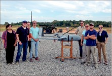 Small Package — Students will train further with the Aerosonde UAV this summer at Liberty SOA. Photo provided
