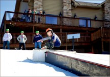 FUN AND GAMES — Children of military families enjoyed the Snowflex slopes for an afternoon. Photo credit: Courtney Russo