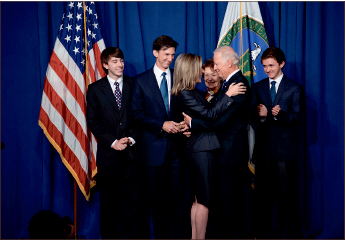 weird — Joe Biden at the swearing-in of Sec. Elizabeth Sherwood-Randall in 2014.  Google Images