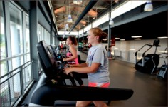 initiative — The LaHaye gym provides multiple ways for students to exercise. Photo credit: Courtney Russo