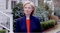 faÇade — Hillary Clinton announced her campaign for president on her Twitter account via a YouTube video. YouTube screenshot