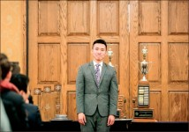 Victory — Kenny Lau takes first place in Program Oral Interpretation contest. Photo provided