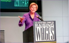 Campaign — Elizabeth Warren is known for her populist appeal. Google Images