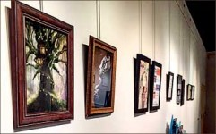 art  — Some of the work displays the affects of pop culture and technology today. Photo provided