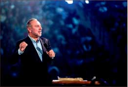 PREACH — Brian Houston traveled from Australia to speak. Photo credit: Ty Hester