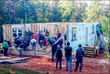 Construct — Students built a house over a two-day period. Photo provided