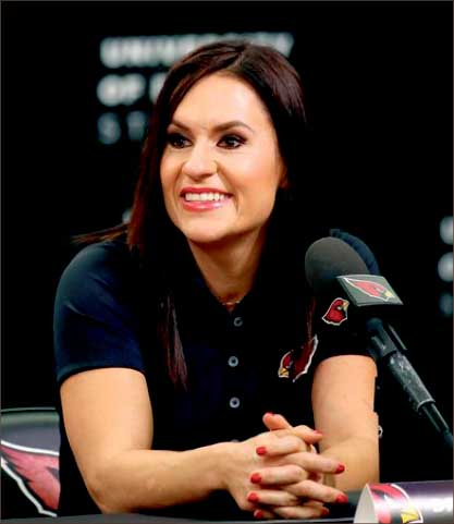 Sports — Jen Welter helped coach the linebacking crew for the Arizona Cardinals. Google Images