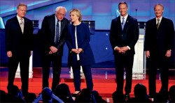 Front-Runner — Approximately 15.3 million people tuned in to watch the first Democratic primary debate of the 2016 election Oct. 13 on CNN held in Las Vegas, Nevada. Google Images