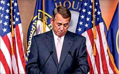resigns — Rep. John Boehner was pushed out of the speaker position by Freedom Caucus members. Google Images