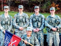 Train — Army ROTC members worked hard academically and received scholarships. Photo provided