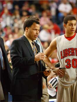 STARs — Coach Richie McKay with former Flame Seth Curry. Photo provided