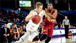 new day — Flames redshirt sophomore guard Ryan Kemrite is one of four returning players from last year's roster. Photo credit: Courtney Russo