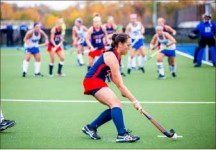 Onlookers — Lady Flames field hockey fell to No. 4 Duke in overtime. Photo credit: Leah Seavers