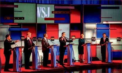 Debate — The Republican Party held its fourth debate of the election cycle in Wisconsin Nov. 10. Google Images