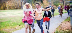 RUNNING FOR A CAUSE — Fish & Bread Project held a Halloween Costume 5K, one of their projects to fundraise for the Blue Ridge Pregnancy Center and Axiom Sports. Photo provided