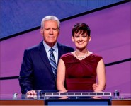 "Champ — Alumna Catherine Hardee made her second appearence on the nightly game show ""Jeopardy!,"" winning more than $25,000.  Photo provided"
