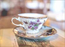 spot of tea — The Ploughcroft Tea Room is owned and operated by British-born Patricia Hutto. Photo credit: Ellie Fraser