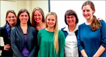 Signing — Pictured above are Bethany Steele, Ann Bryant, Jami Macdonald, Kelsey Pate, Professor Nicole Thorn and Hannah Silver. Photo provided