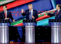Debate — Candidates turned up the heat on Donald Trump. Google Images
