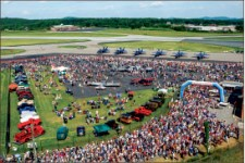 Spectacle — The 2011 airshow brought thousands of attendees. Photo credit: Les Schofer