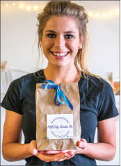 BAKE — Sophomore Caroline Debnam began her own on-campus baking company, Hill City Cookie Company, as a way to raise money for missions. Photo credit: Michela Diddle