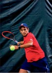 Return — Senior Egon Samaai is fourth in program history with 23 singles victories. Photo credit: Kevin Manguiob